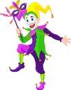 Mardi Gras jester Royalty Free Stock Photo
