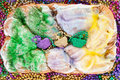 Mardi gras king cake Royalty Free Stock Image