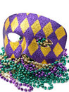 Mardi Gras Mask with Beads Royalty Free Stock Photos