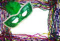 Mardi Gras Mask & Beads Stock Image