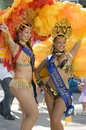 Mardi Gras participants Stock Image