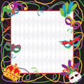 Mardi Gras Party Invitation Stock Images