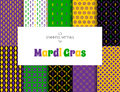 Mardi Gras pattern backgrounds Royalty Free Stock Photo