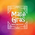 Mardi Gras poster celebration Royalty Free Stock Photo