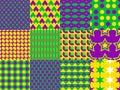 Mardi Gras seamless patterns Royalty Free Stock Photo
