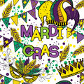 Mardi Gras or Shrove Tuesday seamless pattern