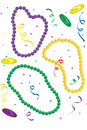 Mardi Gras throws Stock Images