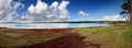 Mare-aux-Vacoas-the water reservoir of Mauritius Stock Images