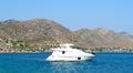 Mare e yacht blu in tacchini bodrum Fotografia Stock Libera da Diritti