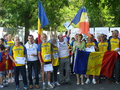 Margaret princess of romania in the middle athletes adult who received awards in bucharest Royalty Free Stock Photos