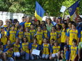Margaret princess of romania in the middle athletes children who received awards in bucharest Royalty Free Stock Images