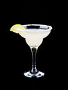 Margarita cocktai cocktail isolated on black Royalty Free Stock Photography