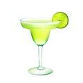 Margarita cocktail realistic