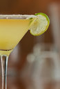 Margarita martini classic served chilled in a glass with a float of orange liqueur Stock Images