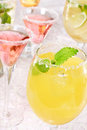Margaritas with Salt and Garnish Stock Photography