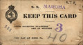 Margha steam ship ticket from newburgh ny to london with wwi soldier's assigned sleeping quarters mess hall c world war i Royalty Free Stock Images