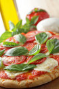 Margherita pizza Stock Images