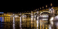 Margit bridge in budapest híd or margaret sometimes is a hungary connecting buda and pest across the danube Royalty Free Stock Photo