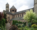 Maria laach abbey detail of the near andernach in the eifel region of the rhineland palatinate in germany Stock Photography