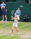 Maria sharapova wimbledon tennis gets knocked out of the championships Stock Images