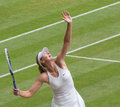 Maria sharapova wimbledon tennis gets knocked out of the championships Stock Photography