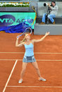 Maria sharapova at the wta mutua open madrid playing against christina mchale th may Royalty Free Stock Images