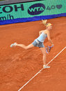 Maria sharapova at the wta mutua open madrid playing against christina mchale th may Royalty Free Stock Image