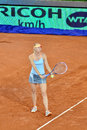 Maria sharapova at the wta mutua open madrid playing against christina mchale th may Stock Image