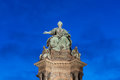 Maria theresa memorial on the theresien platz in vienna Stock Photo