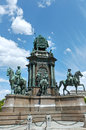 Maria theresa monument at maria theresien platz in vienna austria revealed in y Stock Photos