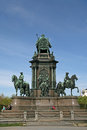Maria theresa monument in maria thesienplatz vienna austria april view of the back side Royalty Free Stock Images
