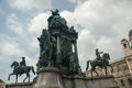 Maria theresa monument in vienna austria at theresien platz revealed Stock Image