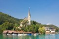 Maria worth church of st primus and felician austria resort Royalty Free Stock Images