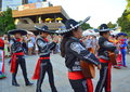 Mariachi musicians at street parade varna bulgaria august rd Stock Photos