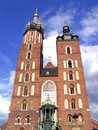 Mariacki Church in Cracow Stock Images
