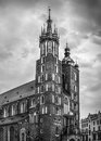 Mariacki church in Cracow, Poland Royalty Free Stock Photo