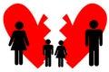 Mariage cassé Images libres de droits