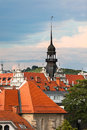 Maribor slovenia roofscape town view vertical shot Royalty Free Stock Photography