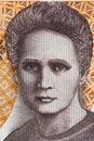 Marie Sklodowska Curie portrait from old twenty thousand zloty Royalty Free Stock Photo