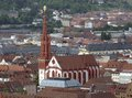 Marienkapelle in wuerzburg aerial view of a city bavaria germany Royalty Free Stock Images