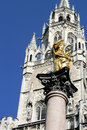Marienplatz munich architectural details at Stock Photo
