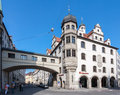 Marienplatz munich germany a historical building with a passage over the street in downtown Stock Photos