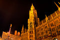 Marienplatz in Munich in the night Stock Images