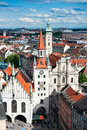 Marienplatz and Old Town Hall in Munich Stock Photography