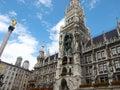 Marienplatz, Town Hall - munich germany Royalty Free Stock Photo