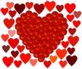 Marigold Red Heart & Hearts