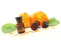Marigold tincture Stock Photography