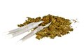 Marihuana joints with marihuana Royalty Free Stock Photo