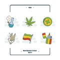 Marijuana Attributes Icons Set One
