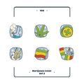 Marijuana Attributes Icons Set Two
